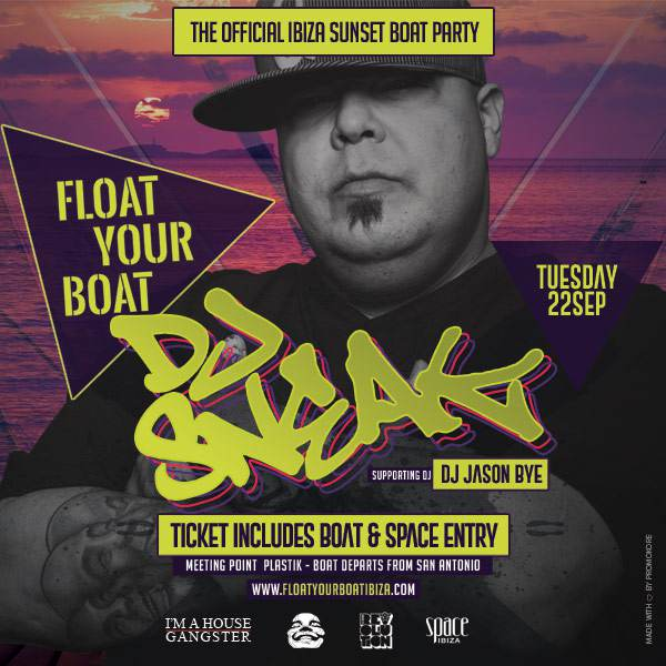 Float Your Boat Ibiza - The Official Carl Cox @ Space Ibiza